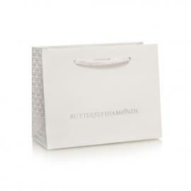 Die Cut Slot Rope Handle Bag Ref Butterfly Diamonds