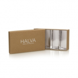 2 Piece Box with Food Grade Silver Card Insert – Ref. Halva