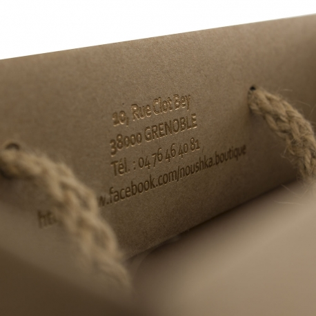 Brown Kraft Rope Handle Carrier Bag– Ref. NouShka