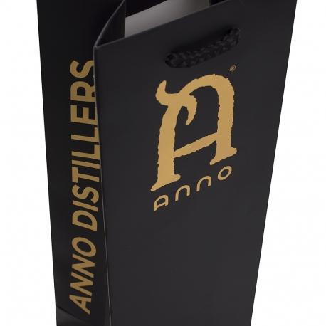Ivory Board with Bronze Hot Foil Bottle Bag– Ref. Anno Distillers