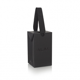 Grosgrain Ribbon Handle Paper Box Bag Ref ALAL