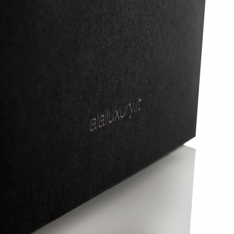 Black Grosgrain Ribbon Handle Paper Box Bag– Ref. ALAL