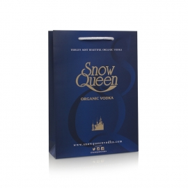 Luxury Hot Foil Printed Carrier Bag Ref Snow Queen