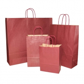 Burgundy Paper Bags With Twisted Handles