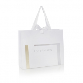 Bespoke Printed Ribbon Handle Carrier Bag Ref. Lisa Franklin