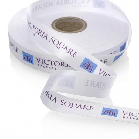 Bespoke Printed Satin Ribbon Ref Victoria Square
