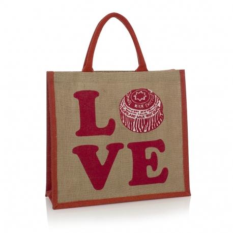Luxury Bespoke Printed Jute Bag Ref Tea-cake
