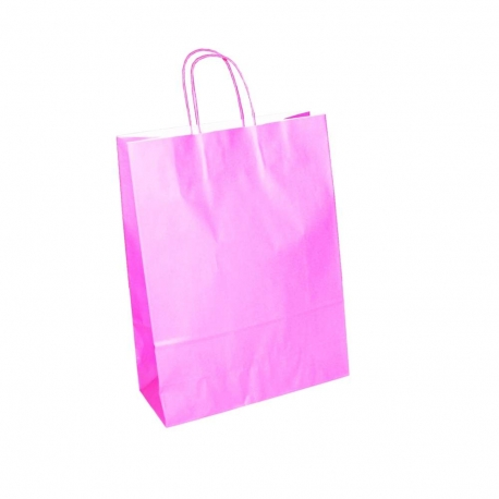 Pink Paper Bags Twisted Handle Paper Bags Precious