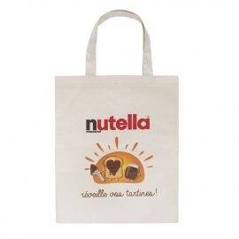 Luxury Bespoke Printed Cotton Bag Ref Nutella