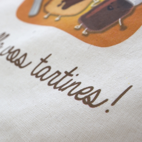 Luxury Bespoke Printed Cotton Bag Ref Nutella