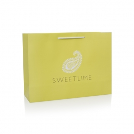 Luxury Bespoke Carrier Bag With Matt Lamination Ref Sweetlime