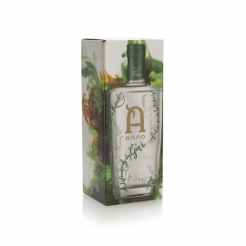 Printed Full Colour Bottle Box with Gold Hot Foil Ref Anno Distillers