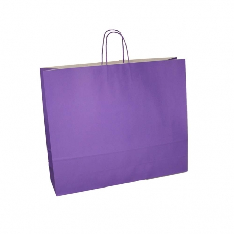 07a937025 Purple Paper Bags | Twisted Handle Paper Bags - Precious Packaging