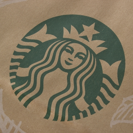 Bespoke Luxury Printed Twisted Handle Kraft Bag Ref Starbucks