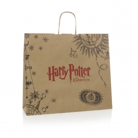 Bespoke Printed Twisted Handle Kraft Paper Bag Ref Harry Potter