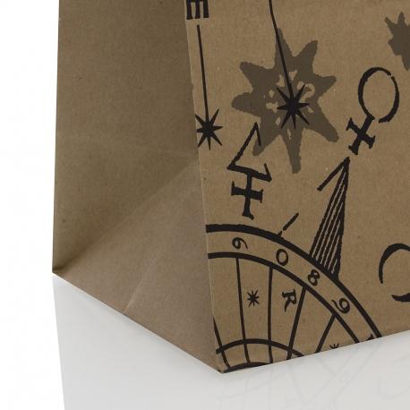 Bespoke Printed Twisted Handle Kraft Paper Bag Ref Harry Potter