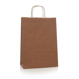 Bespoke Luxury Printed Twisted Handle Kraft Paper Bag Ref Check