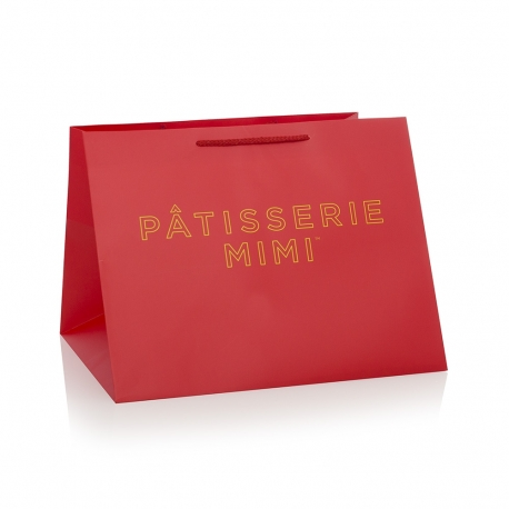Printed Luxury Rope Handle Paper Bags With Large Gusset - Ref. Pattissrie Mimi