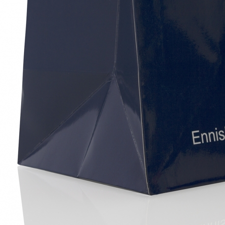 Two Colour Printed Luxury Gloss Paper Bags With Rope Handles - Ref. S.D Kells