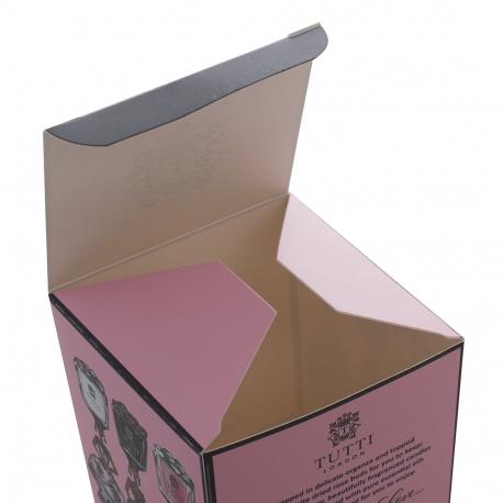 Fold flat paperboard candle box ref Tutti