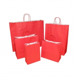 Red Paper Bags With Twisted Handles