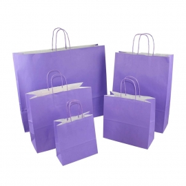 Purple Paper Bags With Twisted Handles