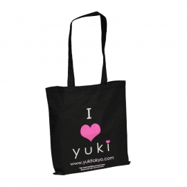 Printed Cotton Bags - Black Eco Bags - Ref. Yuki