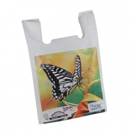 Printed HDPE T-Shirt Bags With Multi-Colour Print - Ref. Butterfly