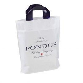 Printed LDPE Flexi Loop Bags With Coloured Handles - Ref. Pondus