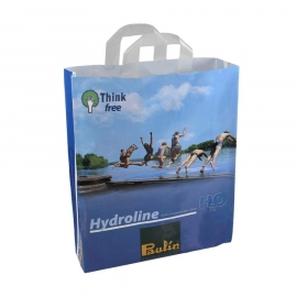 Printed LDPE Flexi Loop Bags With Multi-Colour Print - Ref. Hyrdoline