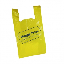 Printed Thick HDPE T-Shirt Bags - Ref. Happy price