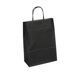 Black Promotional Paper Bags With Twisted Handles