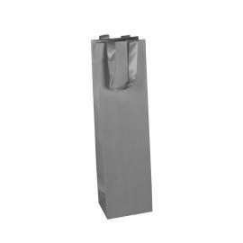 Luxury Silver Matt Paper Wine Bags
