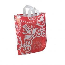 Printed Reusable LDPE Flexi Loop Bags - Ref. M&S