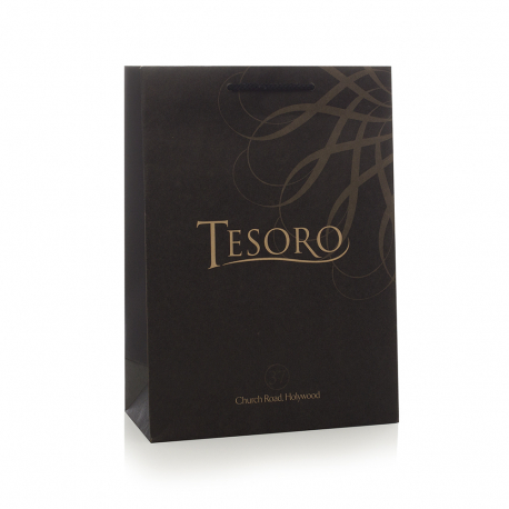 Recycled And Unvarnished Brown Paper Bags With Rope Handles - Ref. Tesoro