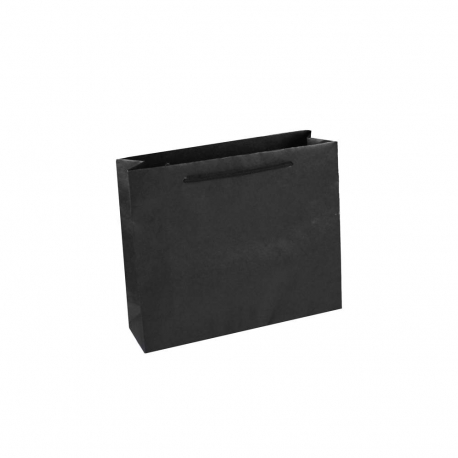 Black Paper Bags With Rope Handles Recycled Black Paper Bags