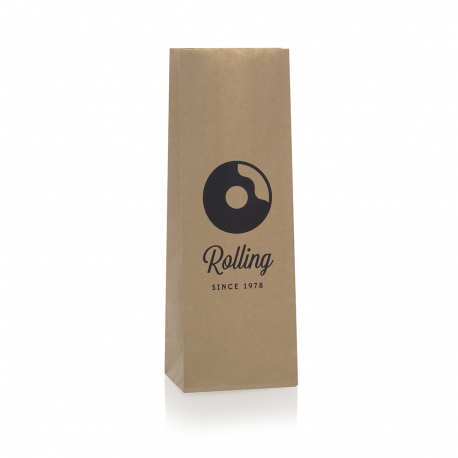 Brown Kraft Handleless Paper Bags - Ref. The Rolling Donut