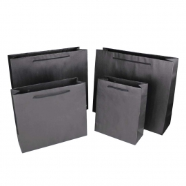 Recycled Black Paper Bags With Rope Handles – Natural Brown Paper