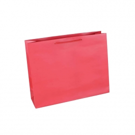 Luxury Red Matt Paper Bags With Rope Handles