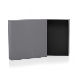 Printed Detachable Lid Paper Boxes With Spot UV Finish – Ref. Hugo Boss