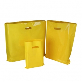 Yellow Plastic Bags With Punched Out Handles
