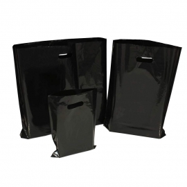 Black Plastic Bags With Punched Out Handles