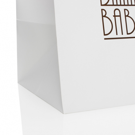 Luxury Printed Matt Laminated Paper Bags with Spot UV Ref. Babelle