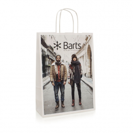 Laminated Twisted Handle Bag – Ref. Barts