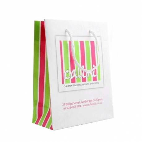 Calini Kids White Kraft Carrier Bags