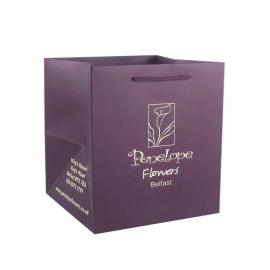 Printed Luxury Matt Flower Bags With Rope Handles - Ref. Penelope's Flowers