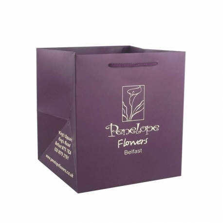 Penelope Flowers Luxury Card Paper Carrier Bags