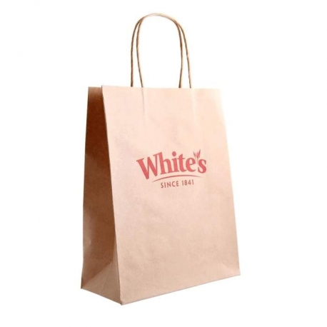 Whites Oats Brown Kraft Paper Carrier Bags