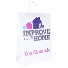 Printed Promotional Paper Bags With Twisted Handles Ref. Self-Build Ireland