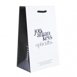 Recycled Paper Bags With Black Printed Side Gusset - Ref. Jonathan Keys